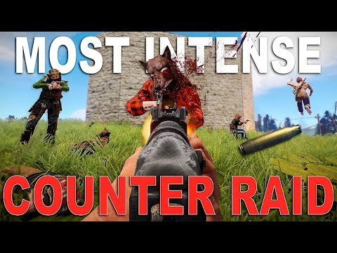 The MOST INTENSE Counter Raid of MY LIFE | Rust