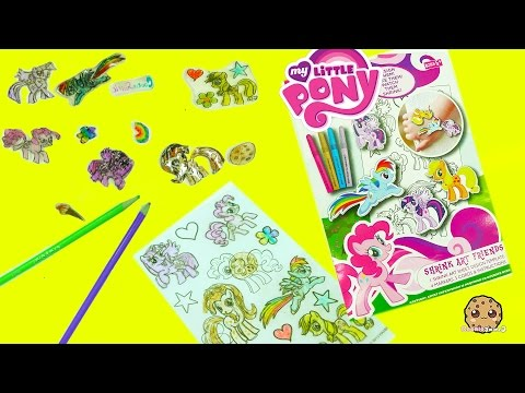 My Little Pony Rainbow Dash, Pinkie Pie, Twilight, MLP Shrinky Drink Art Maker Shrink In Oven