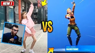 TOUS LES DANCES FORTNITE SANITE SALAniteS/EMOTES IN REAL LIFE! (SEASON 7 DANCES) - RÉACTION