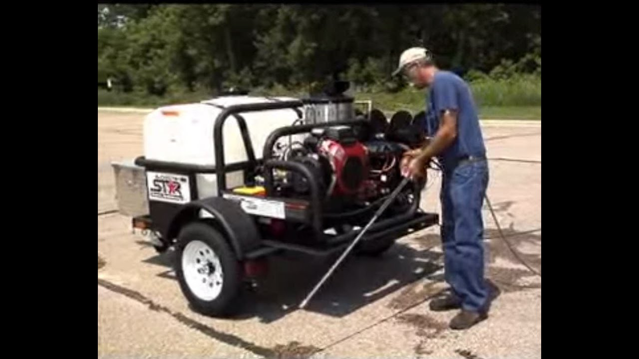 small resolution of northstar hot water pressure washer with honda engine demonstration