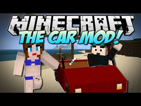 Minecraft | DRIVEABLE CARS! (Drive across your Minecraft land!) | Mod Showcase [1.5.2]