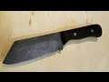 Making a Knife from O1 Tool Steel