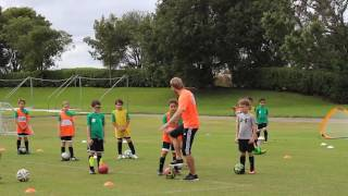 Dribbling Warm-up #2 U8-U10 Changing Speed and Direction, 1/2/3 Turns, Collecting Gates