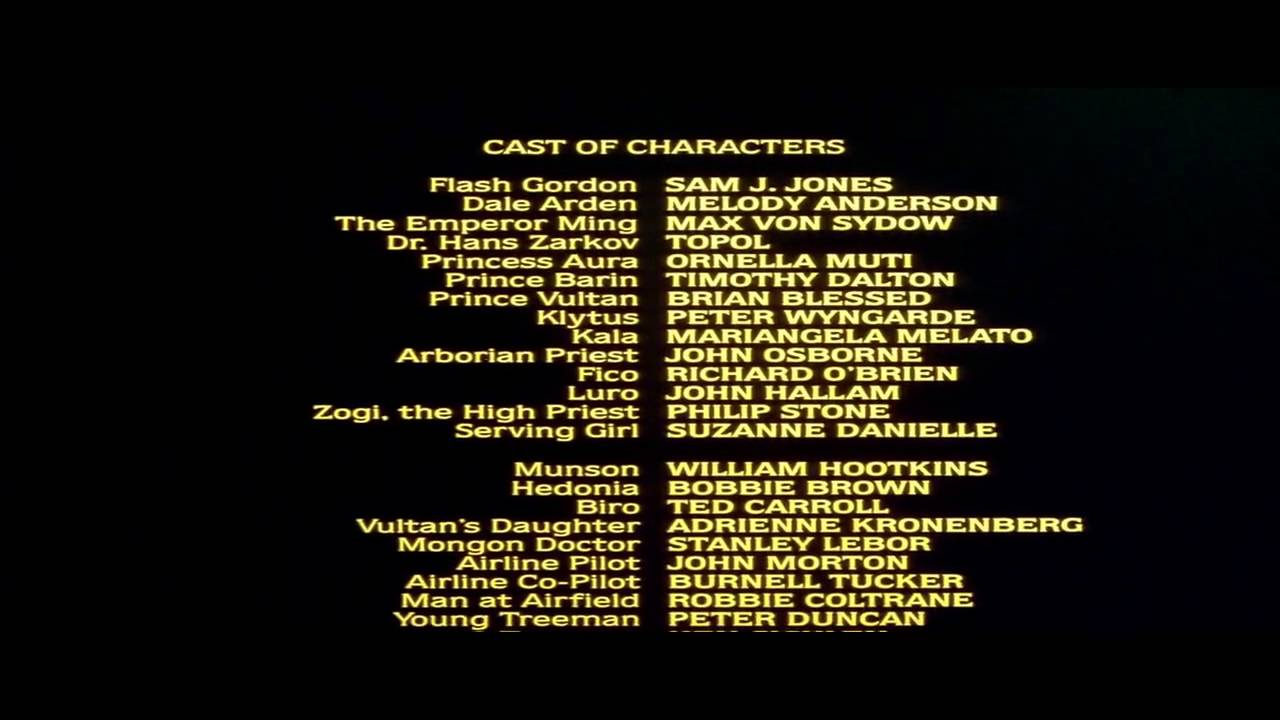flash gordon 1980 ending credits youtube