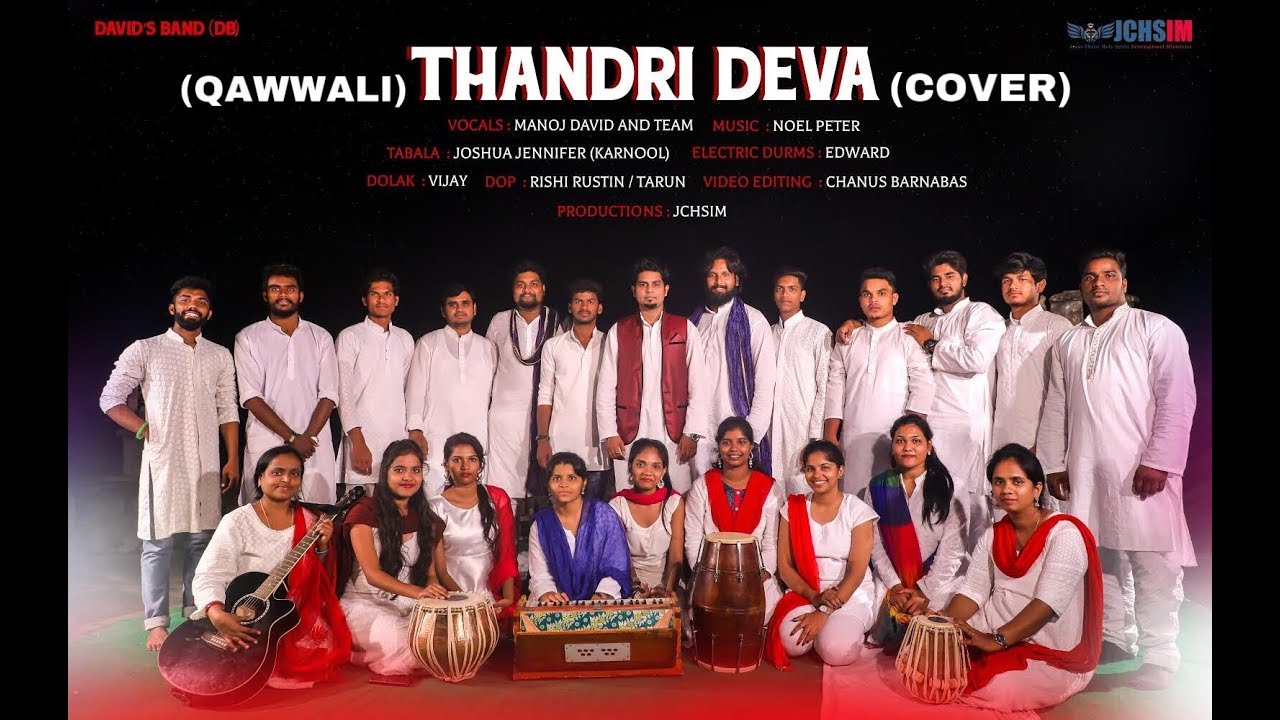 Latest Telugu Christian song|| THANDRI DEVA(Qawwali Cover) Official ||MANOJ DAVID & Team