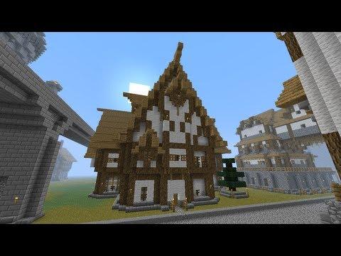 Minecraft: large Medieval Tavern Tutorial [part 107 season 1]