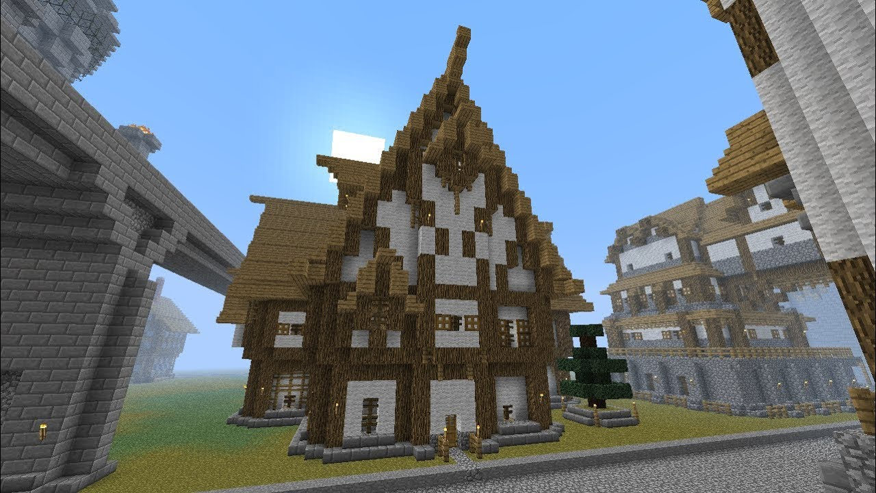Minecraft Large Medieval Tavern Tutorial Part 107 Season 1