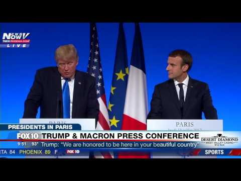 FULL PRESS CONFERENCE: President Trump and President Macron in Paris (FNN)