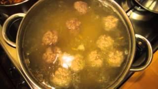 Быстрый суп с фрикадельками за 30 минут  Видео рецепт
