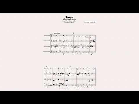 Nutcracker Trepak for Clarinet Quartet