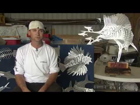 Custom Metal Fish Art Sculpture- Themetaledge.com