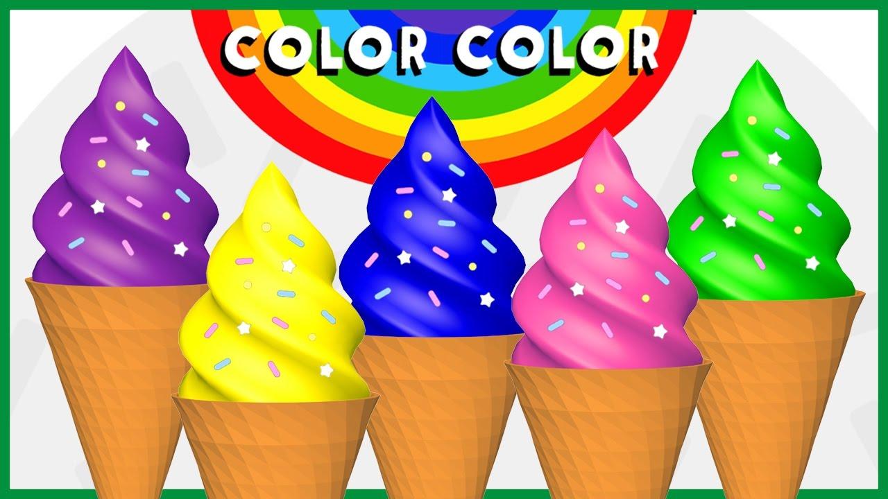 Color color 3 helados de colores a jugar youtube for De colores de colores