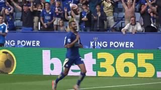 Riyad Mahrez penalty vs Sunderland - King Power Stadium - 8th August 2015