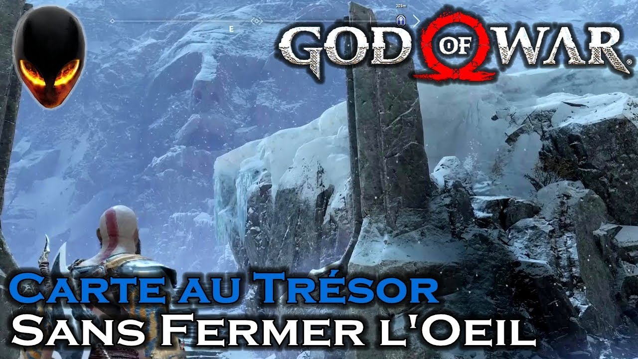 Carte Au Tresor Sans Fermer Loeil.God Of War Carte Au Tresor Sans Fermer L Oeil Montagne Midgard