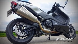 Yamaha TMAX SX 2017 - Akrapovic Exhaust with and without DB Killer test