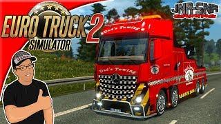 Euro Truck Simulator 2 Mercedes Benz Actros MPIV Crane Truck Mod Review