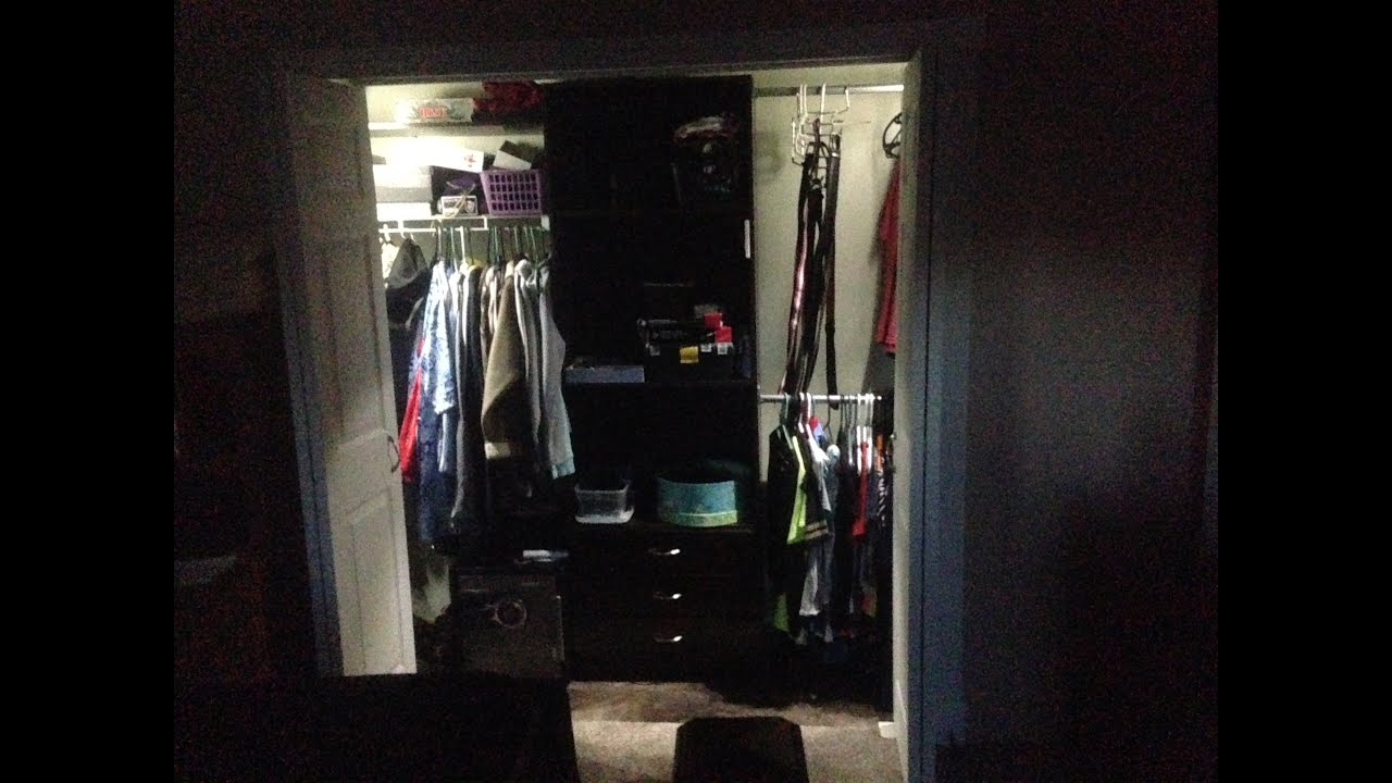 small closet lighting ideas. Installing Battery Powered Led Wireless Closet Lights With Switch From Wal Mart Youtube Small Lighting Ideas