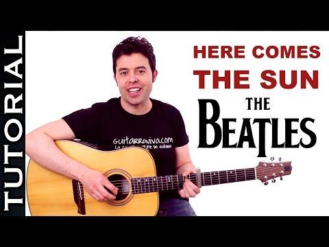 Cómo tocar here comes the sun guitarra en guitarra fácil  | Guitarraviva
