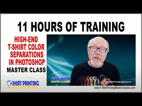 High-End T-Shirt Color Separations in Photoshop Online Course with Scott Fresener