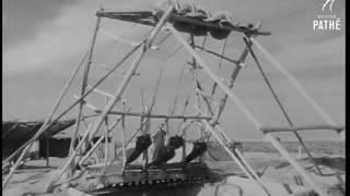 رئيس الوزراء العراقي نوري السعيد يفتتح خط انابيب نفطية في البصرة 10 كانون الثاني 1952