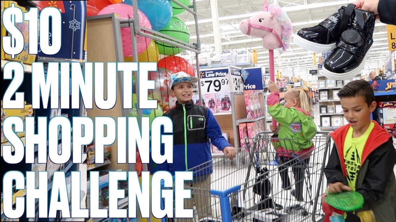 two-minute-walmart-challenge-most-savage-item-in-walmart-under-10-unicorns-and-sneaker-speakers
