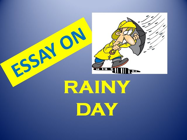 Paragraph on rainy day |Essay on rainy day|essay on rainy season|Speech on rainy day
