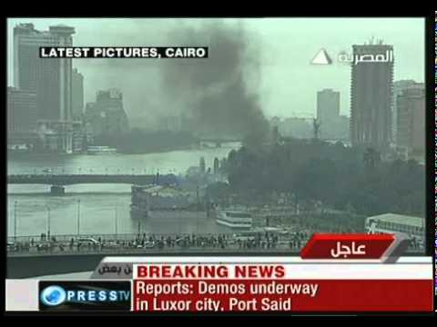 egyptian uprising live video [28 january 2011]