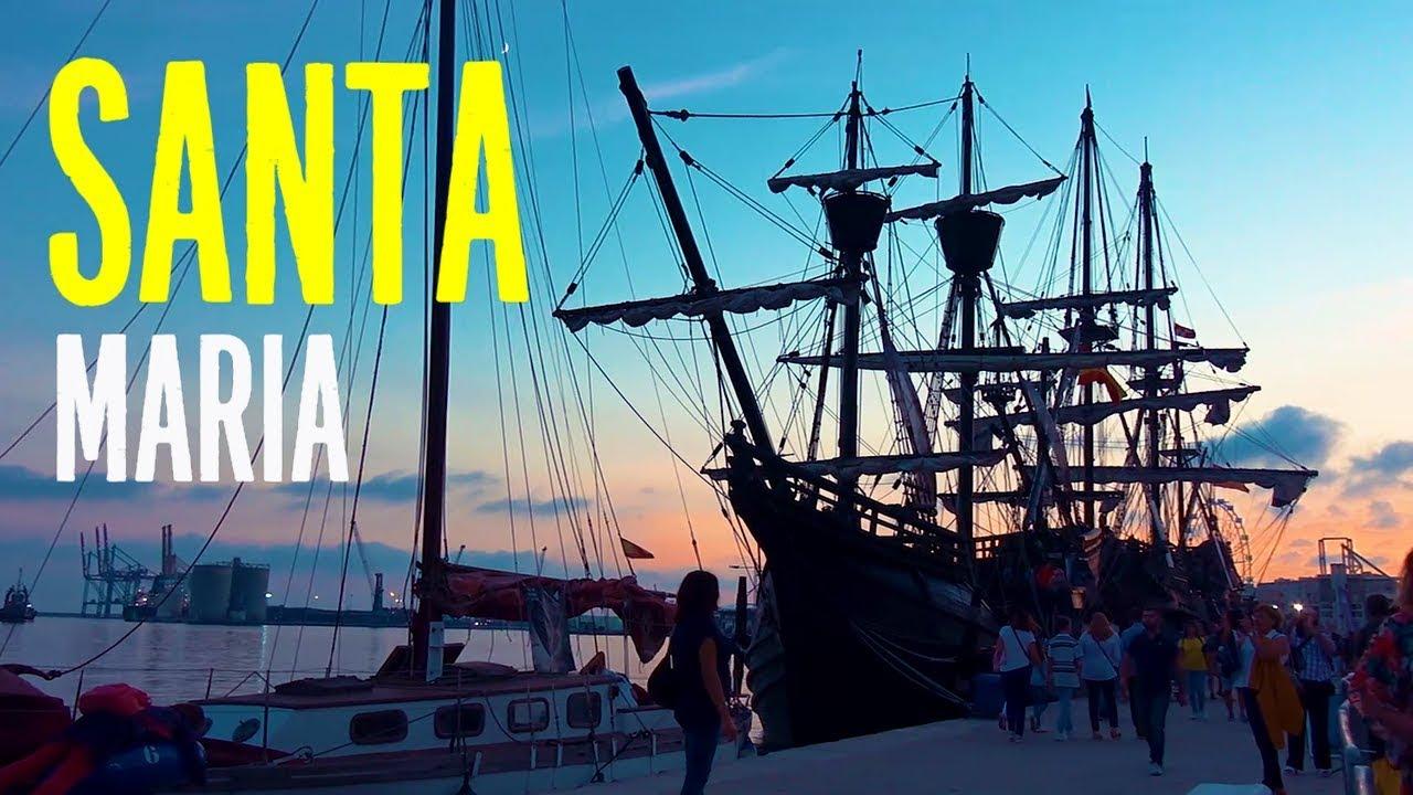 Christopher Columbus ship replica Nao Santa Maria, Galeon and Victoria