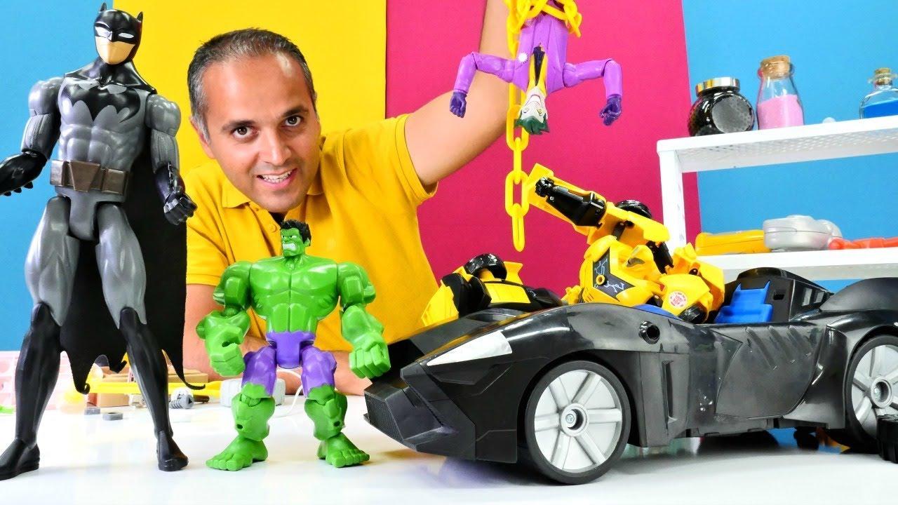 Bumblebee, Hulk ve Batman Joker'den batmobili geri alıyorlar!