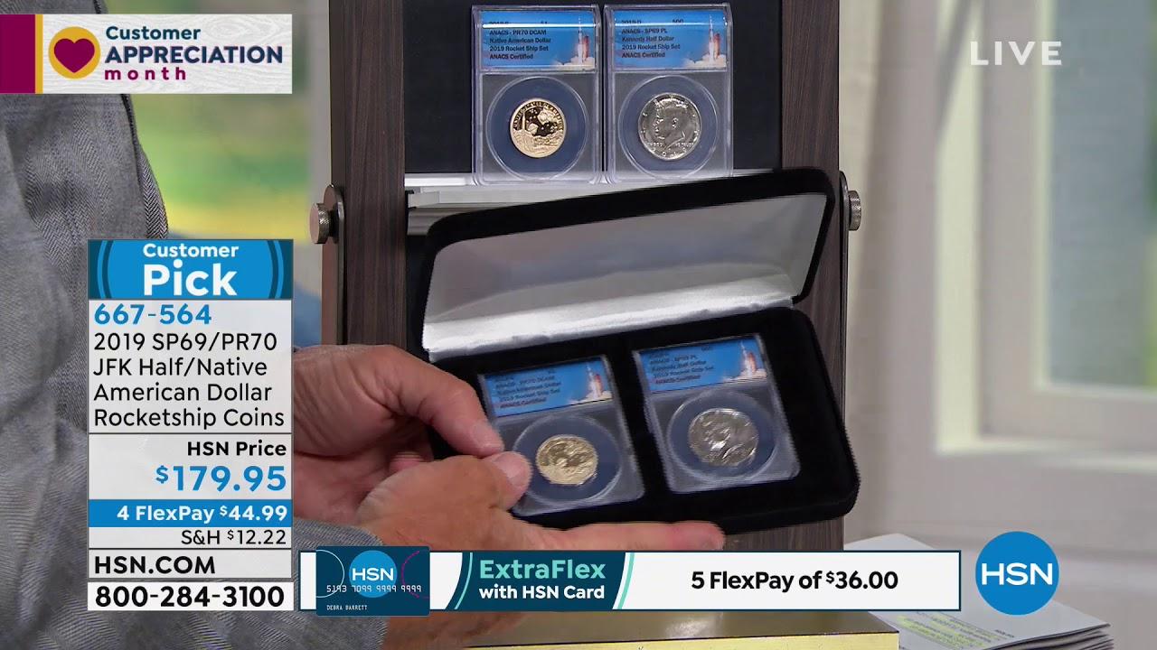2019 SP69 JFK Half and PR70 Native American Dollar Rocke