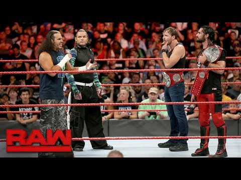 The Hardy Boyz congratulate new Raw Tag Team Champions Rollins & Ambrose: Raw, Aug. 21, 2017