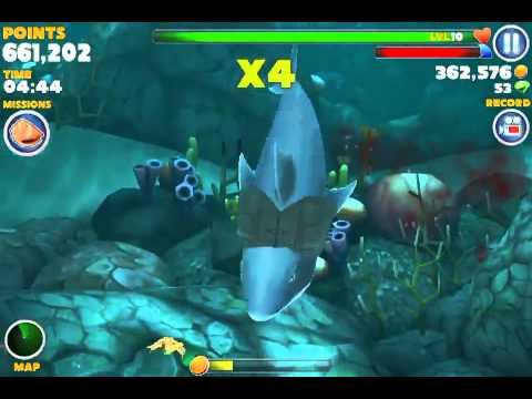 hungry shark evolution great white shark vs giant crab
