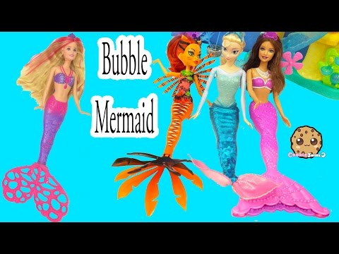 Barbie Mermaid Pearl Princess + Bubble-tastic Spin Doll Have Under Water Bubble Party - Cookieswirlc