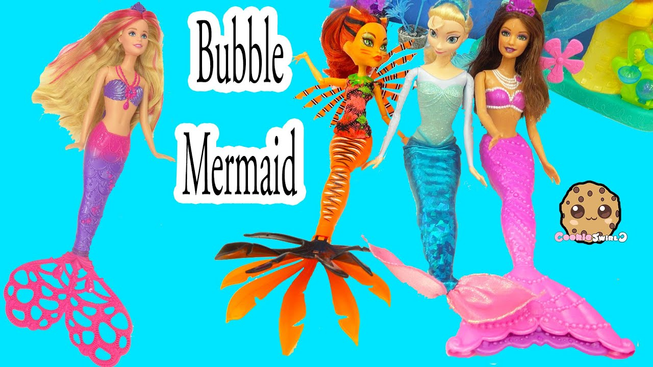 Barbie Mermaid Pearl Princess Bubble Tastic Spin Doll