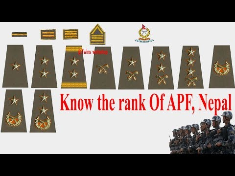 Identify The Rank Of APF Nepal | Lok sewa Help |
