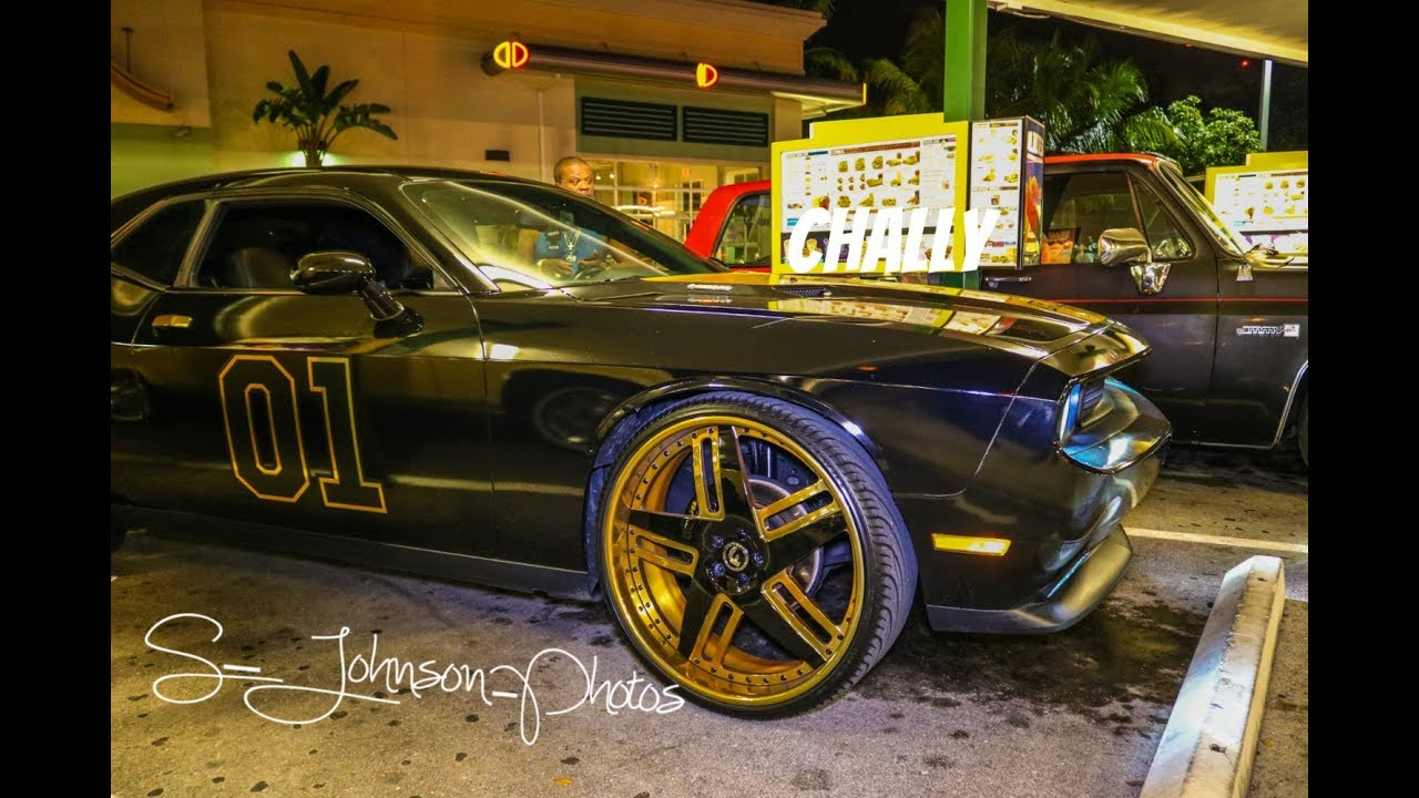 Super clean gold trimmed dodge challenger rt on gold forgiato wheels in hd must see