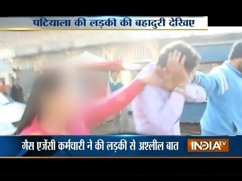 Girl Thrashes Gas Agency Worker Publicly for Having Vulgar Conversation on Phone