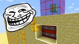 Minecraft CUBÃO : TROLLAGEM DA TNT INVISIVEL !! (MINECRAFT TROLL)