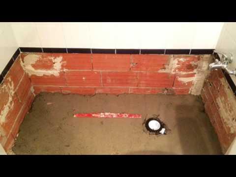 Instalaci n b sica plato de ducha a medida paneles doovi - Como colocar un plato de ducha de resina ...