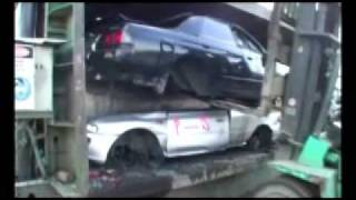 Three cars get crushed by Christine