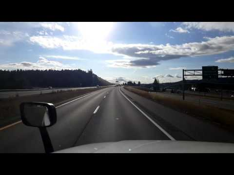 Bigrigtravels Live! Post Falls,  Idaho headed Eastbound on Interstate 90 September 1, 2016