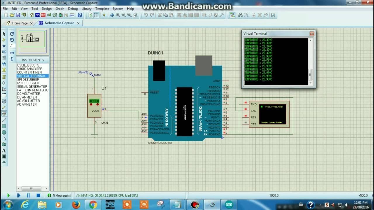 Lm temperature sensor to arduino meter