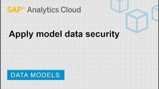 Apply model data security: SAP Analytics Cloud (2019.8.6)