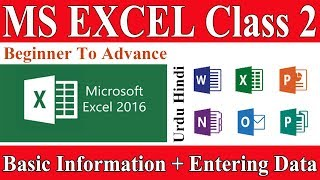 Microsoft Excel Tutorial-Learn MS Excel in Urdu Hindi| Basic Information | Entering Data |Data Types