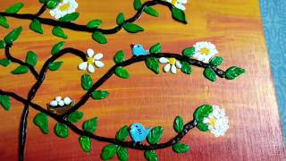 Acrylic Painting with clay for beginners,do it yourself,clay art painting,anvesha,s creativity