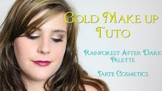 Gold Make-up ♡ Rainforest Afterdark Palette Tarte Cosmetics ♡ Thumbnail