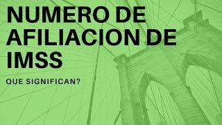 QUE SIGNIFICAN LOS DIGITOS EN TU NUMERO DE AFILIACION EN EL IMSS 2019?