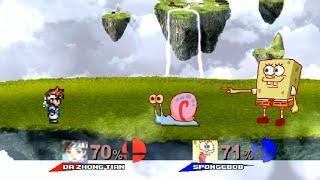 大中天魯蛋出擊海綿寶寶 任天堂明星大亂鬥風格版 Da Zhong Tian VS Spongebob Super Smash Bros. Brawl Version