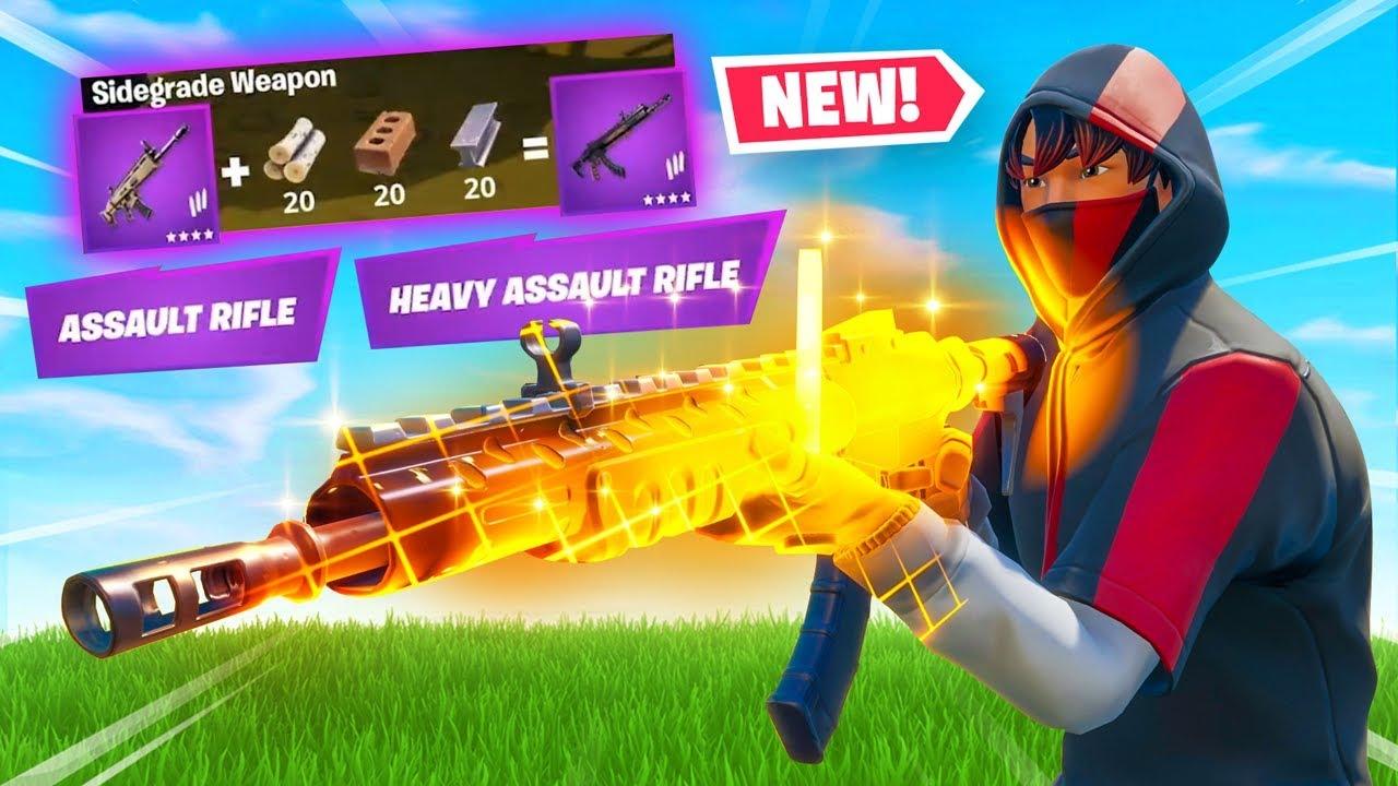 *NEW* LEGENDARY SIDEGRADING In Fortnite Battle Royale! thumbnail