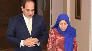 الرئيس السيسي يستقبل السيدة منى صاحبة صورة جرعربة البضائع بالأسكندرية